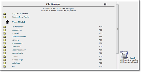CPanel Legacy File Manager