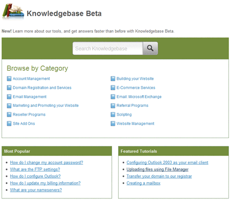 FatCow Knowledgebase